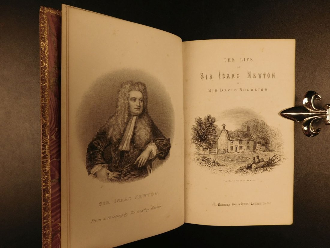 1855 EXQUISITE Life of ISAAC NEWTON Science Mathematics - 2