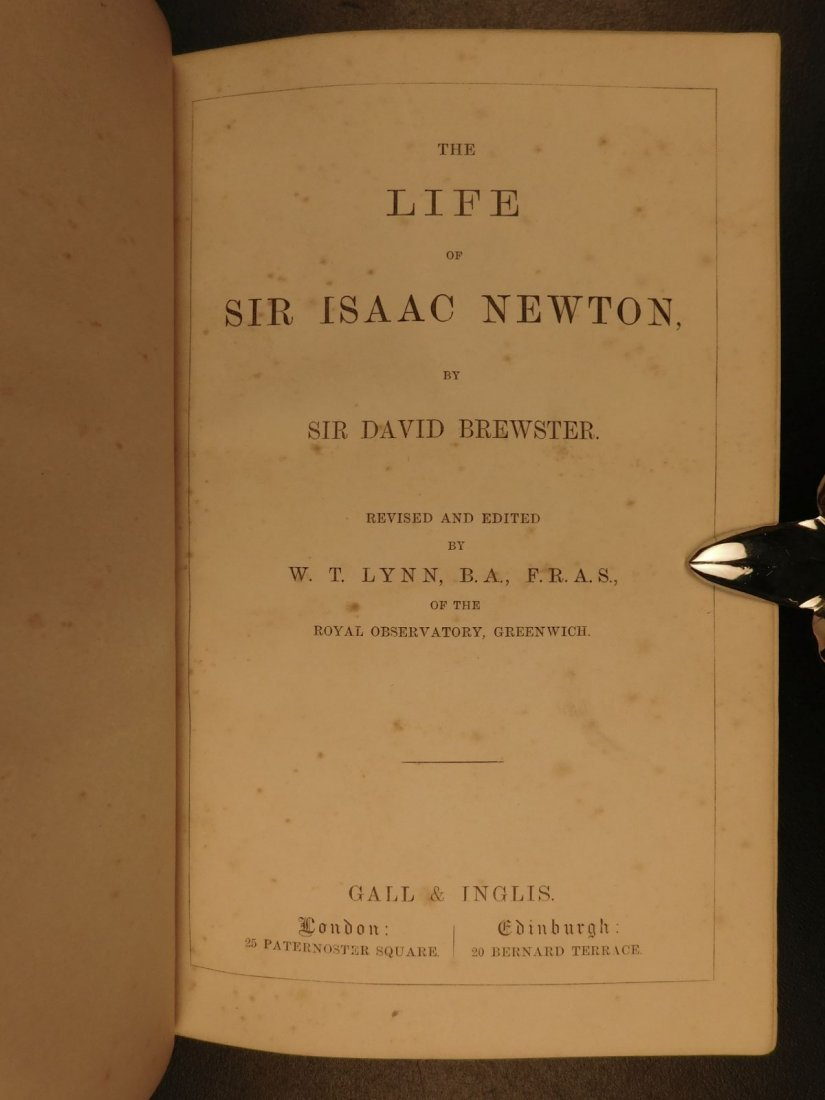 1855 EXQUISITE Life of ISAAC NEWTON Science Mathematics - 3