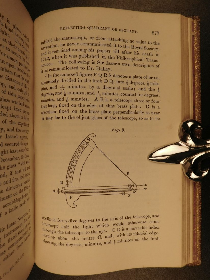 1855 EXQUISITE Life of ISAAC NEWTON Science Mathematics - 7