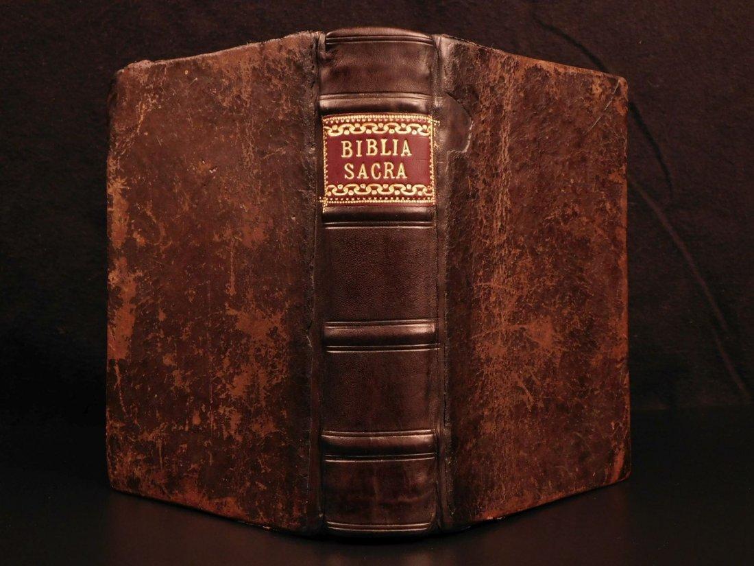 1566 Holy Bible Biblia Sacra Vulgate Woodcuts