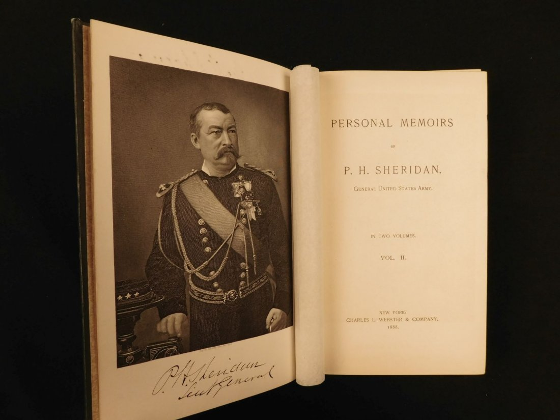1888 1st ed Civil War General Sheridan Personal Memoirs - 10