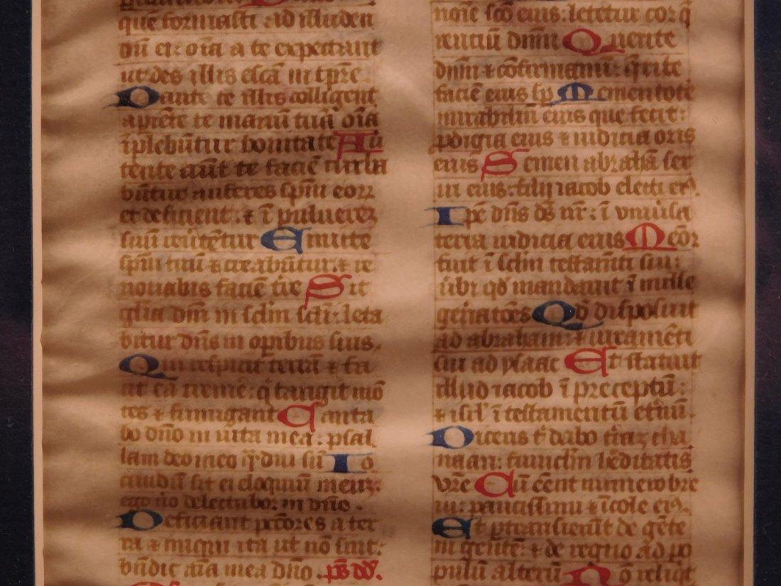 1400s Medieval Handwritten Manuscript FRAMED PSALMS - 5