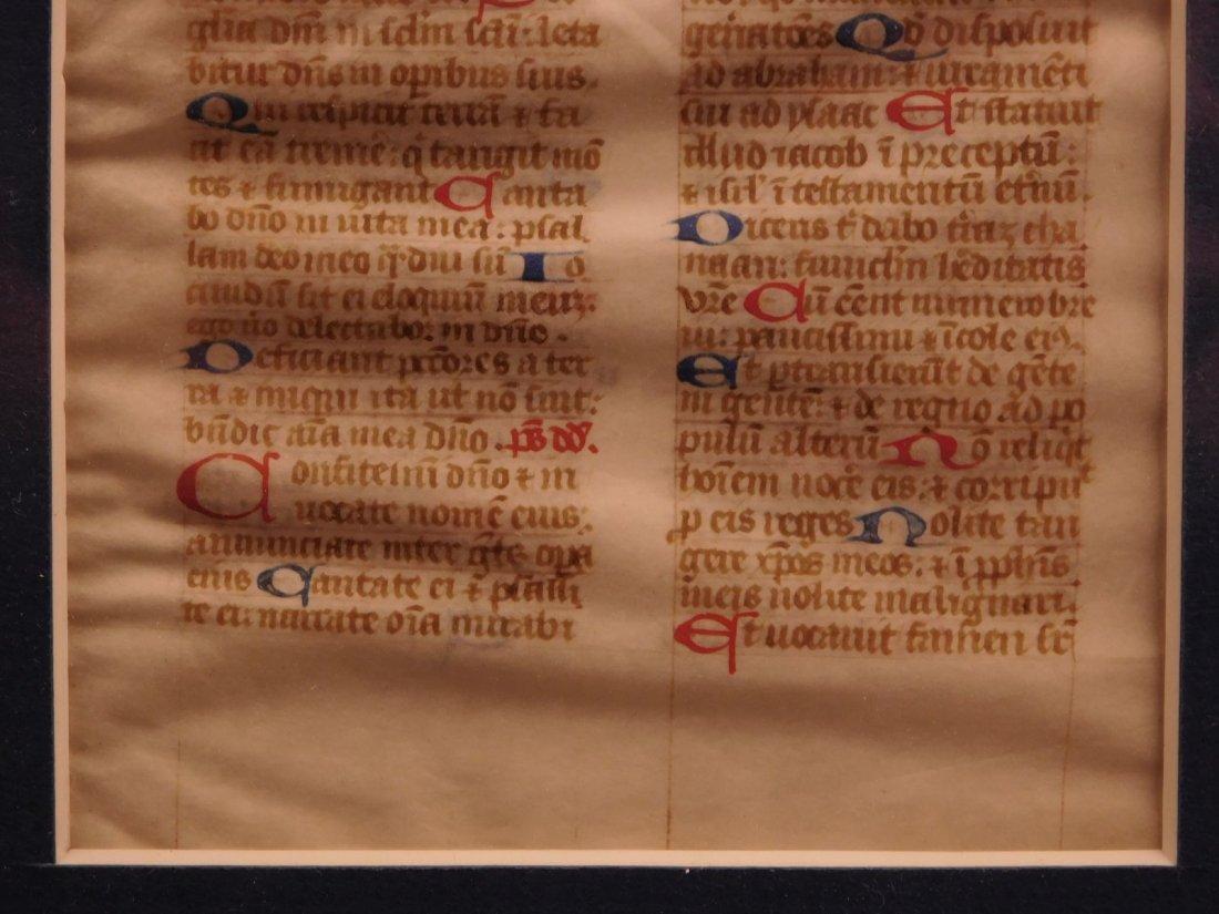 1400s Medieval Handwritten Manuscript FRAMED PSALMS - 6