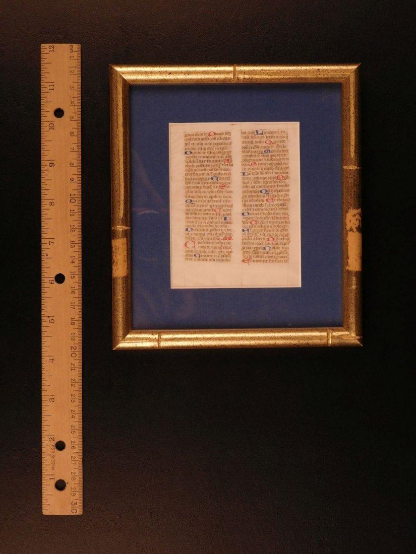 1400s Medieval Handwritten Manuscript FRAMED PSALMS - 7
