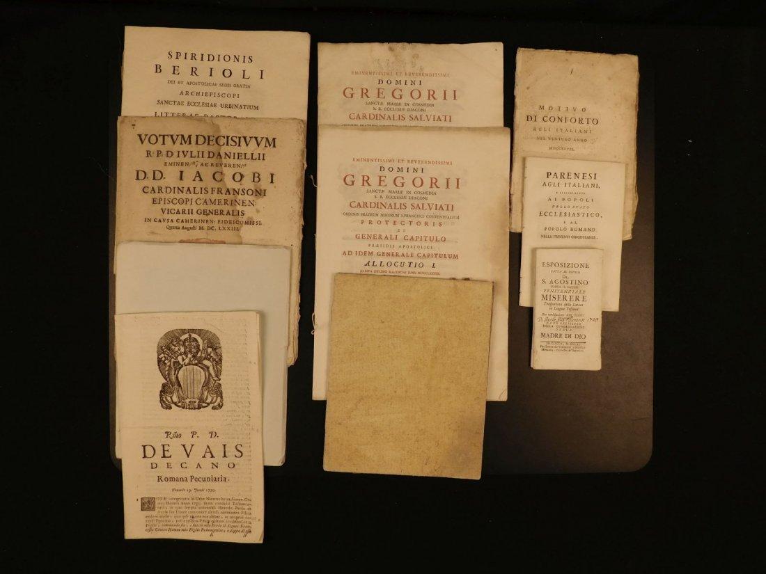 1673-1797 Rare Book Lot Latin & Italian Catholic Church