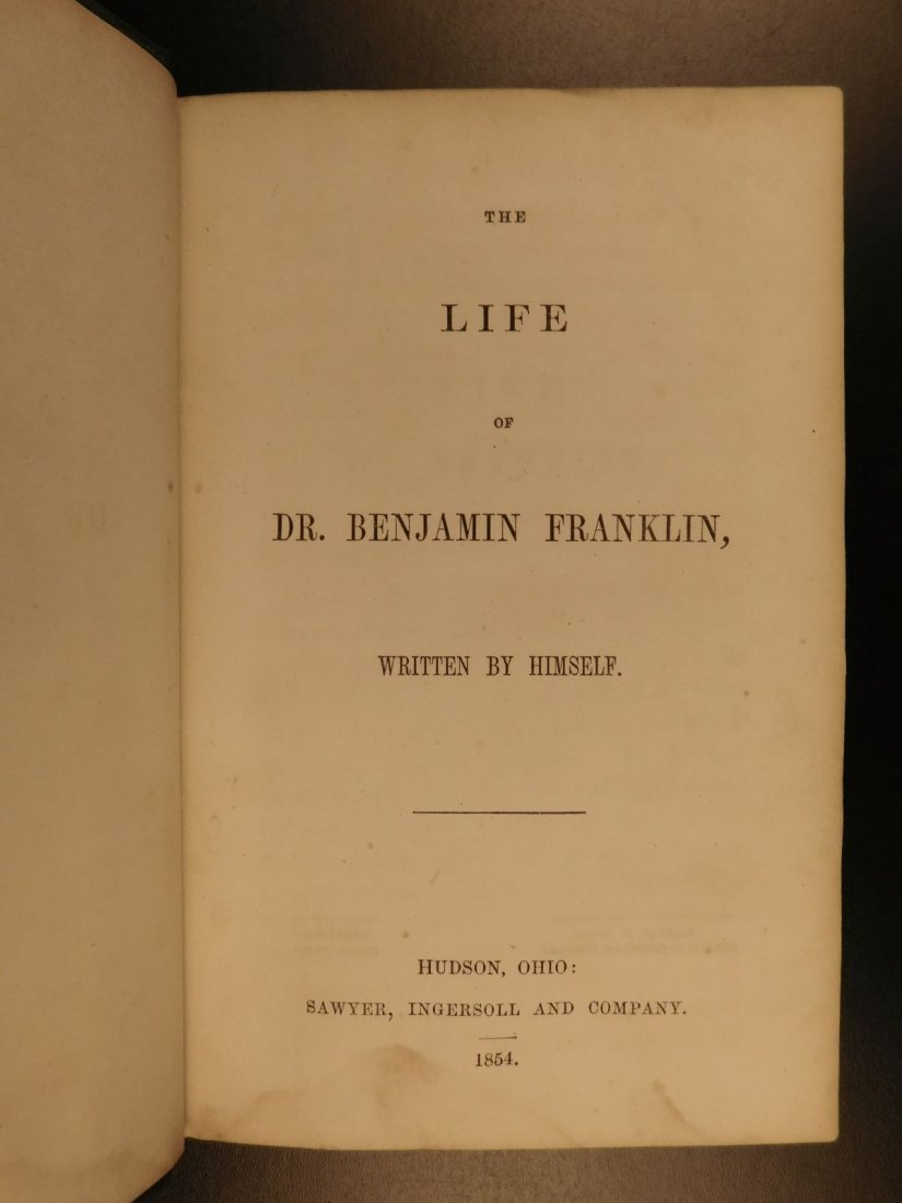 1854 Civil War Soldier PROVENANCE Life of Ben Franklin - 2