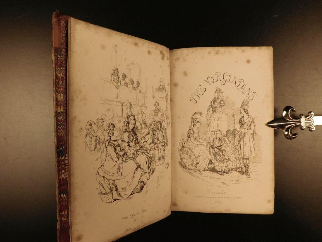 1858 1st ed Virginians by William Thackeray Americana - 2