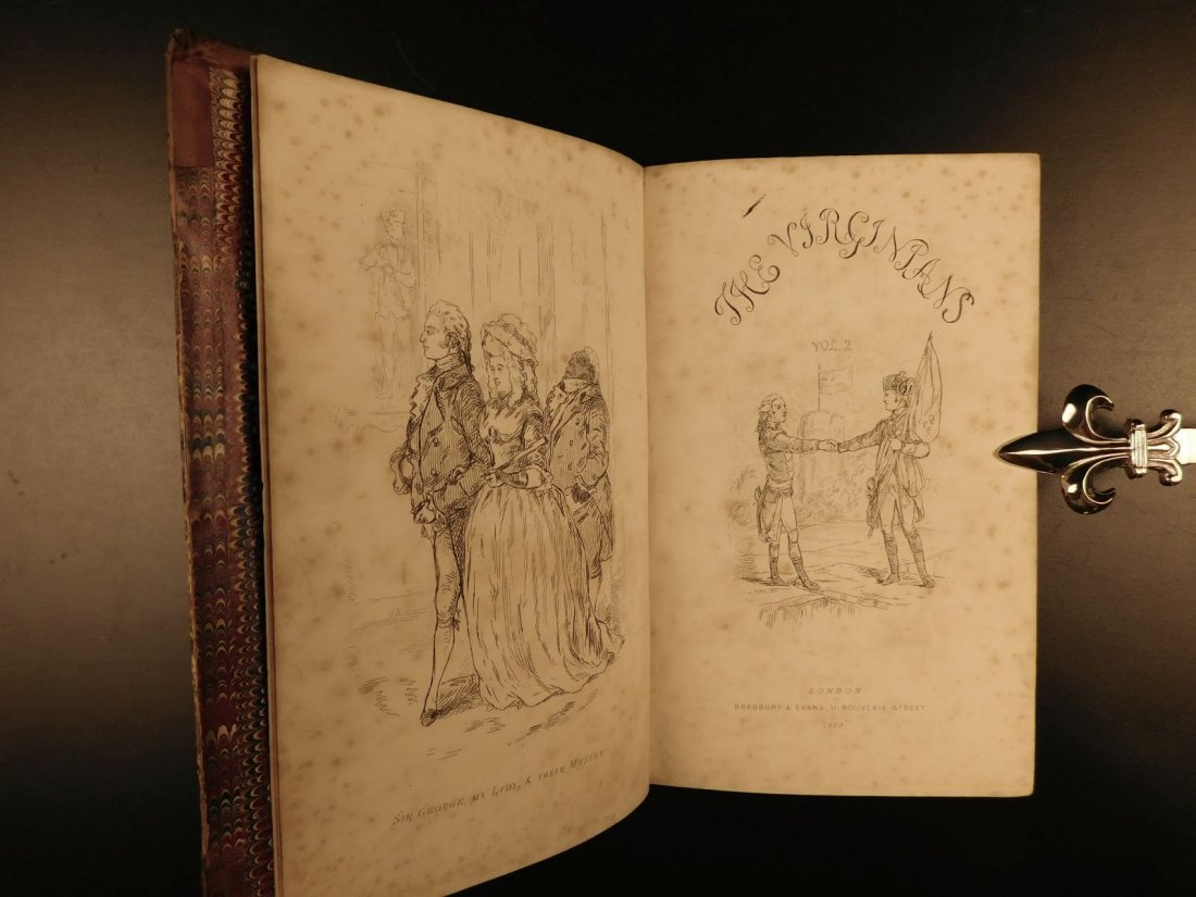1858 1st ed Virginians by William Thackeray Americana - 9
