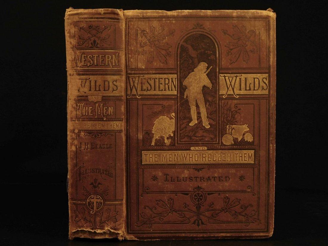 1877 1st ed Western Wilds Mormon Migration Native Ameri