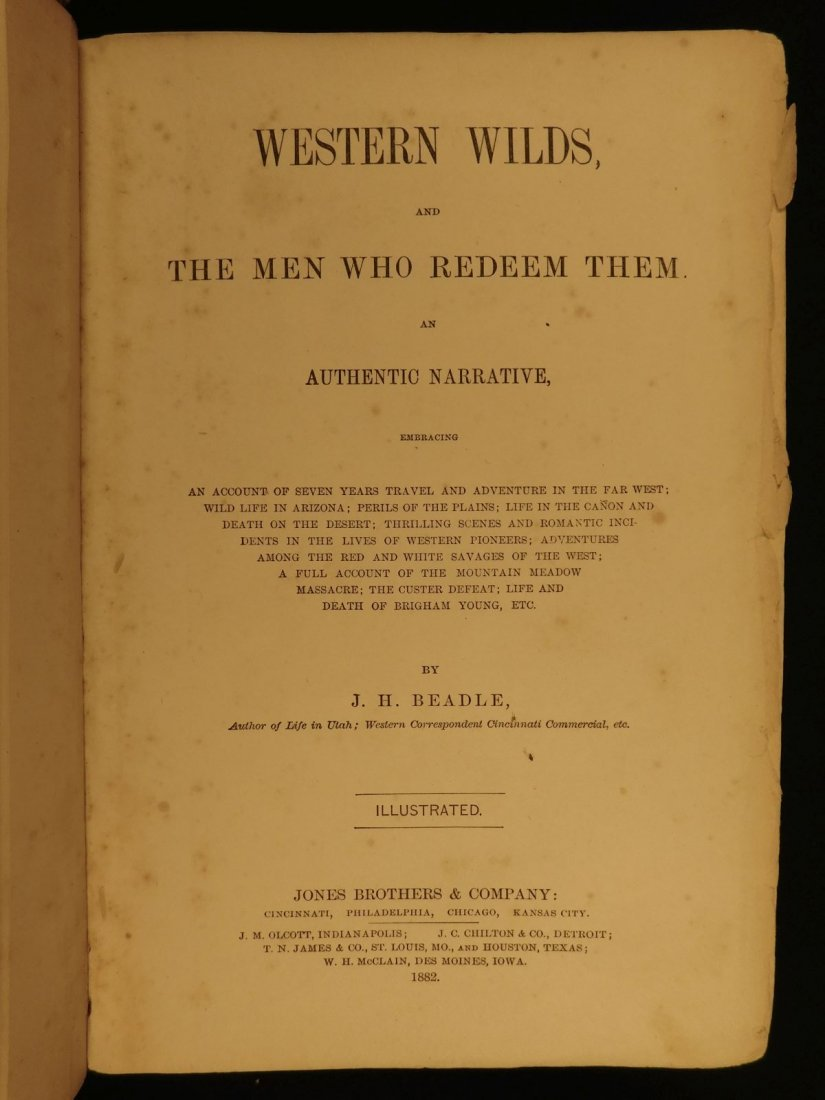 1877 1st ed Western Wilds Mormon Migration Native Ameri - 3