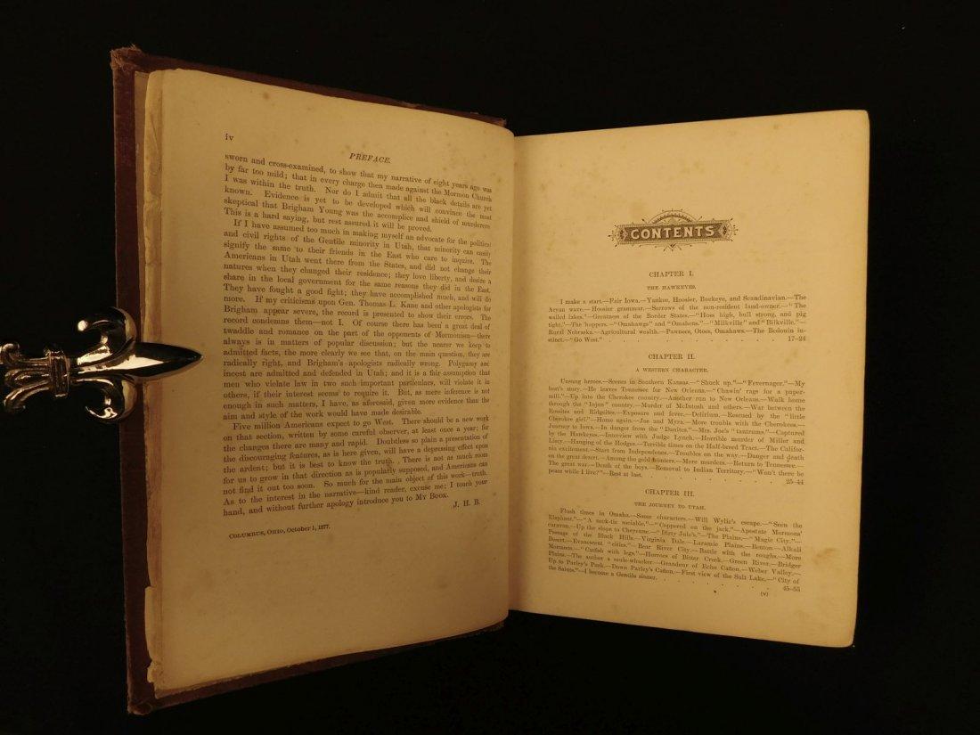 1877 1st ed Western Wilds Mormon Migration Native Ameri - 4