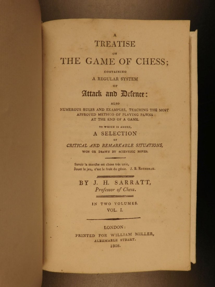 1808 1st ed CHESS Games Strategy Rules for Checkmate - 2