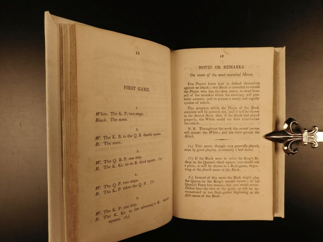 1808 1st ed CHESS Games Strategy Rules for Checkmate - 6
