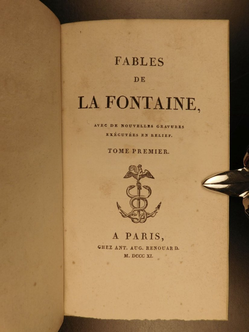 1811 Fables of Jean de Fontaine French Lit Aesop BEAUTI - 3