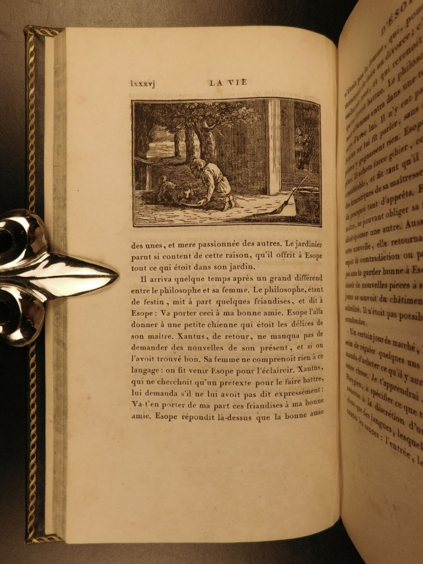 1811 Fables of Jean de Fontaine French Lit Aesop BEAUTI - 6