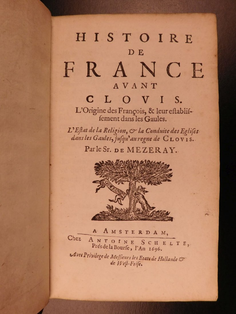 1696 History of France Clovis Pharamond Legends Saint - 3
