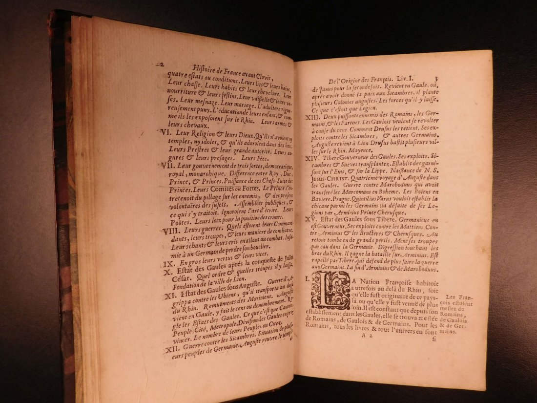 1696 History of France Clovis Pharamond Legends Saint - 6