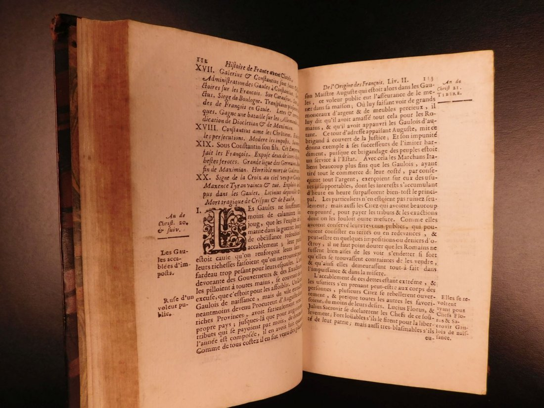 1696 History of France Clovis Pharamond Legends Saint - 9
