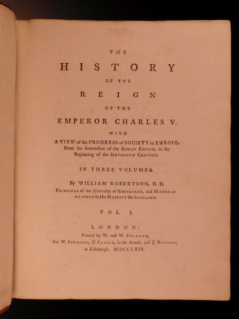 1769 1st ed History of Charles V Holy Roman Empire - 3