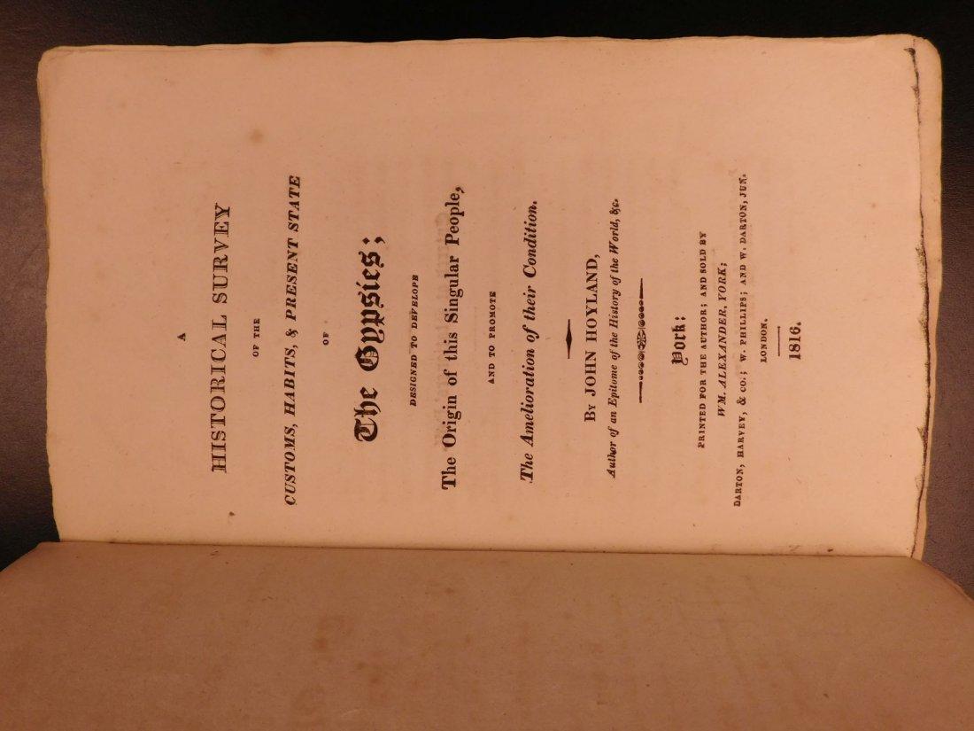 1816 1st ed Survey of GYPSIES Customs Hoyland Romani - 2
