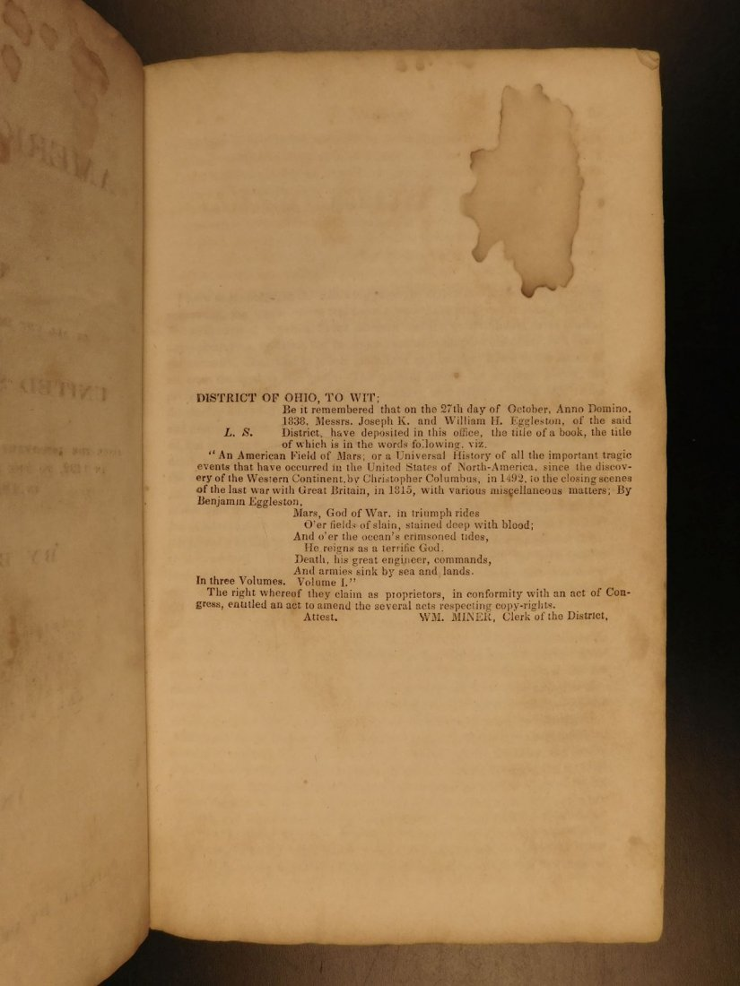 1839 American Field of Mars Indian WAR & Discovery of - 3