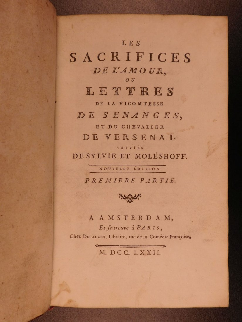 1772 Letters of Victomtesse Senanges by Claude Dorat He - 4