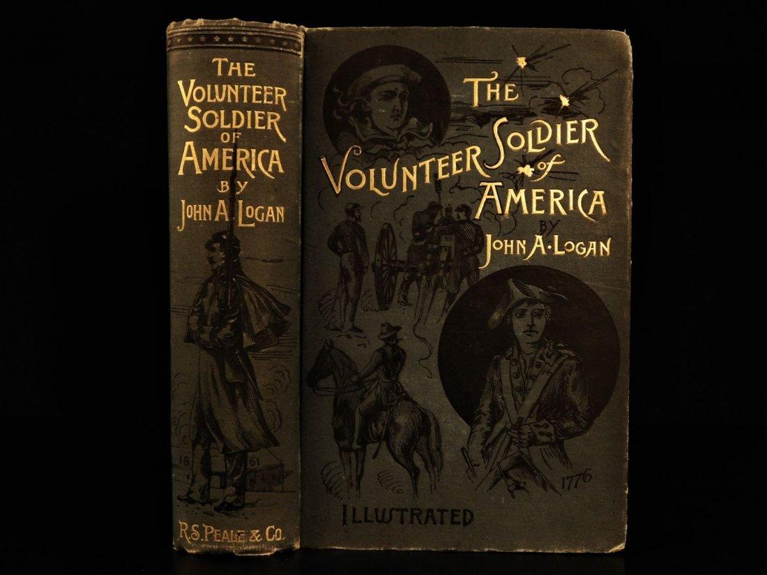 1887 1st ed Volunteer Soldier of America by Logan Civil