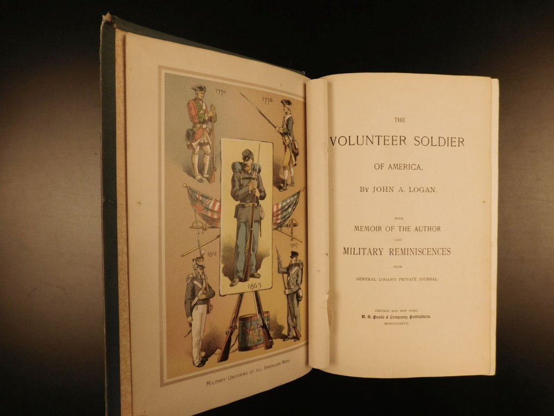 1887 1st ed Volunteer Soldier of America by Logan Civil - 2