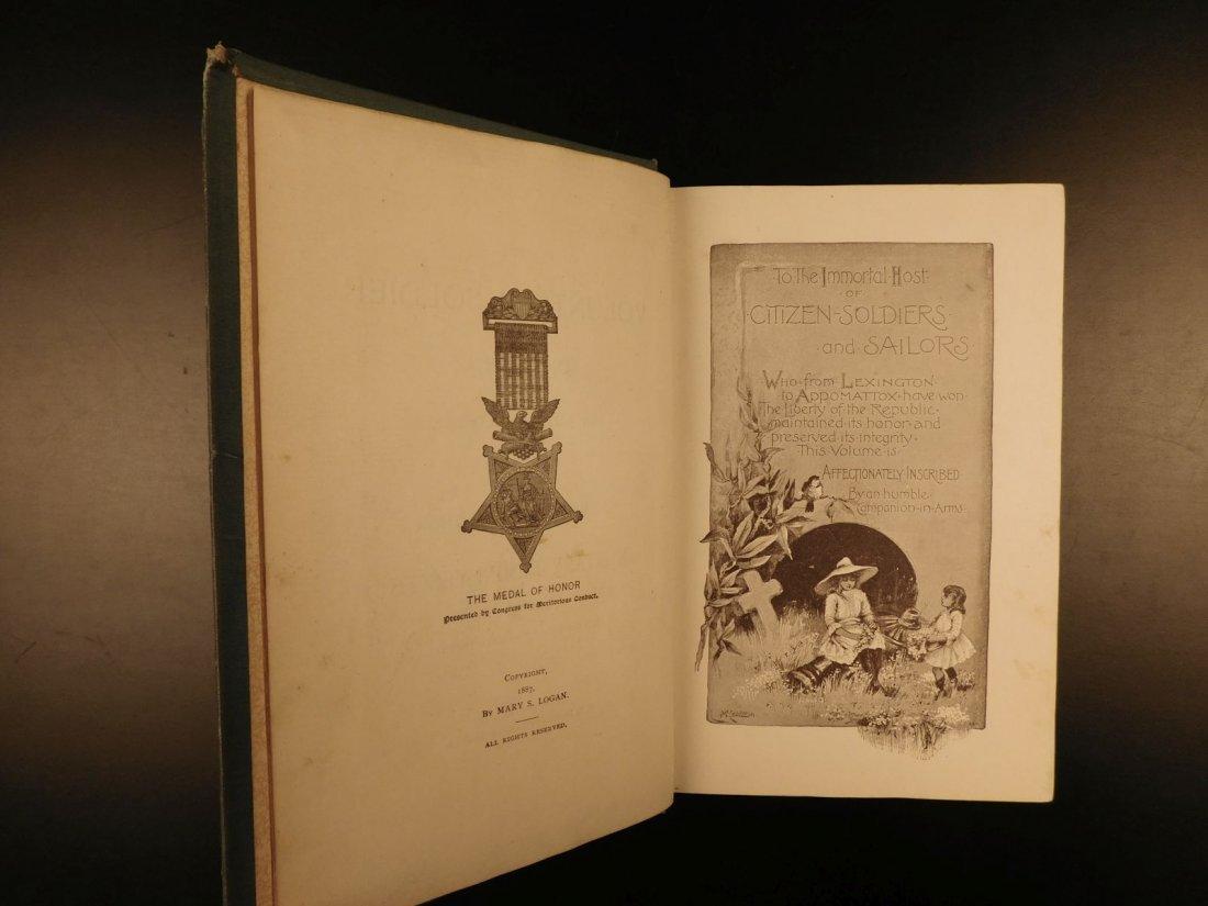 1887 1st ed Volunteer Soldier of America by Logan Civil - 3