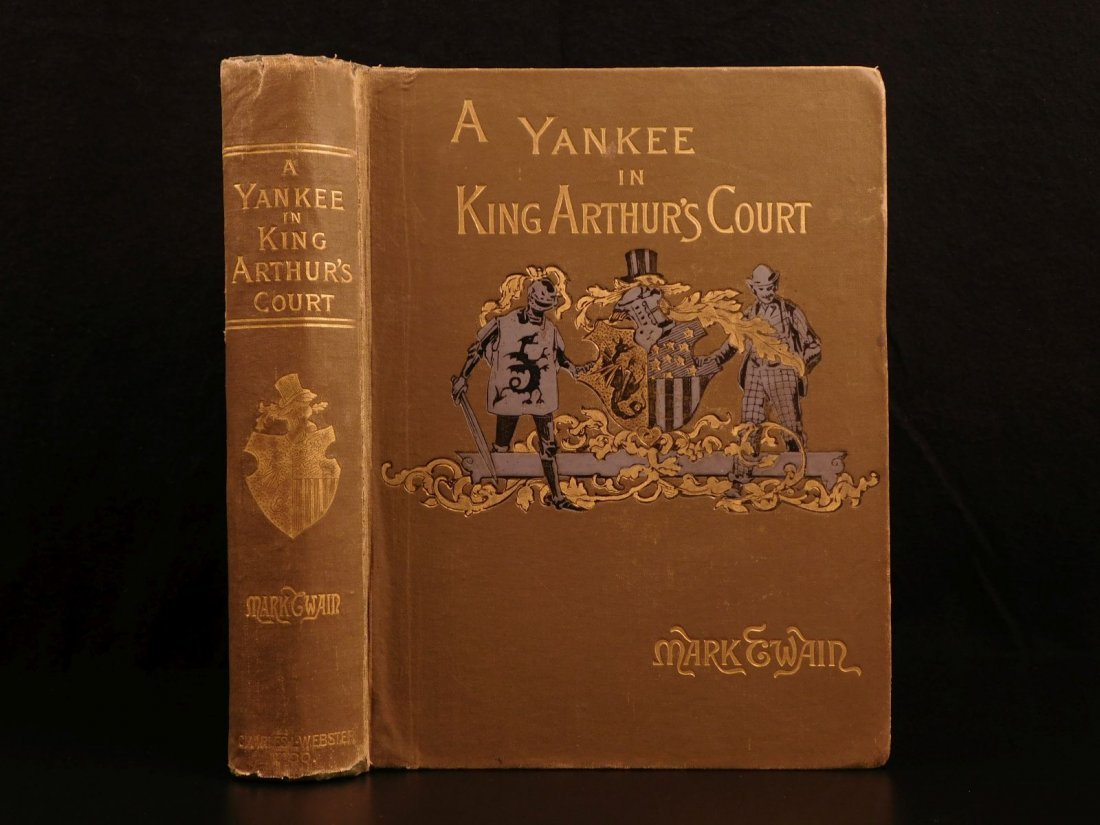 1889 1st ed Mark TWAIN Connecticut Yankee in King Arthu