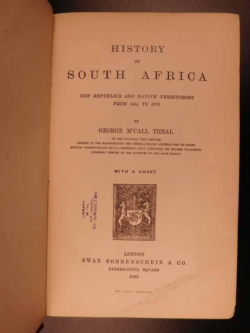 1889 History of South Africa by Theal Orange Free State - 3
