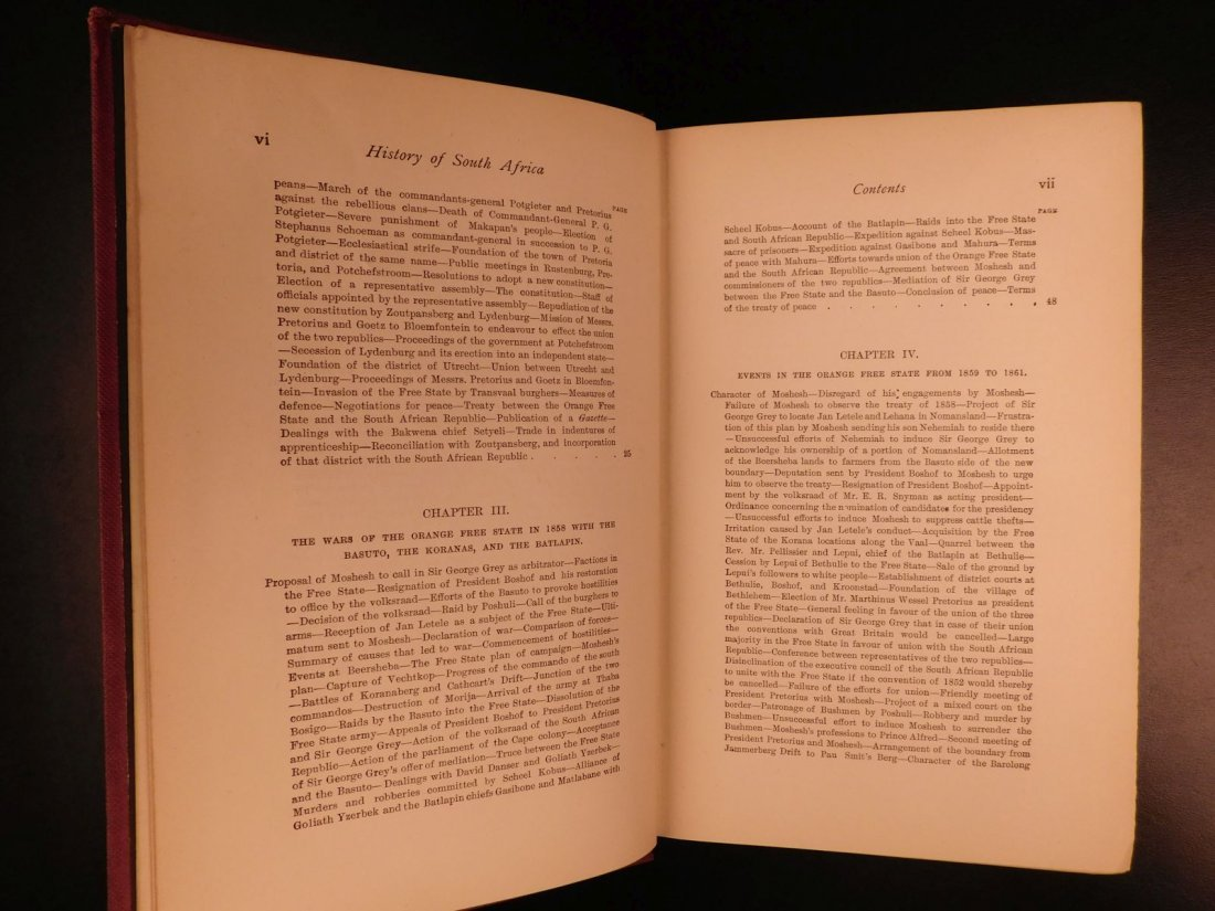1889 History of South Africa by Theal Orange Free State - 6