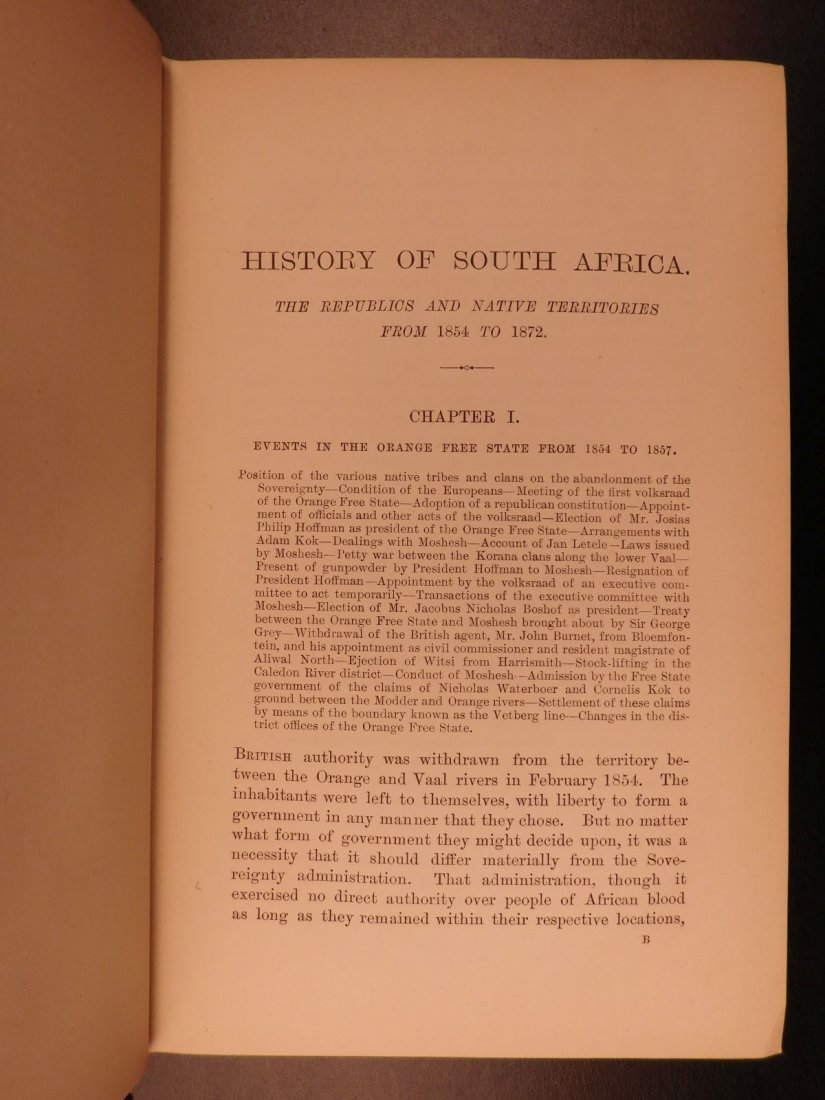 1889 History of South Africa by Theal Orange Free State - 9