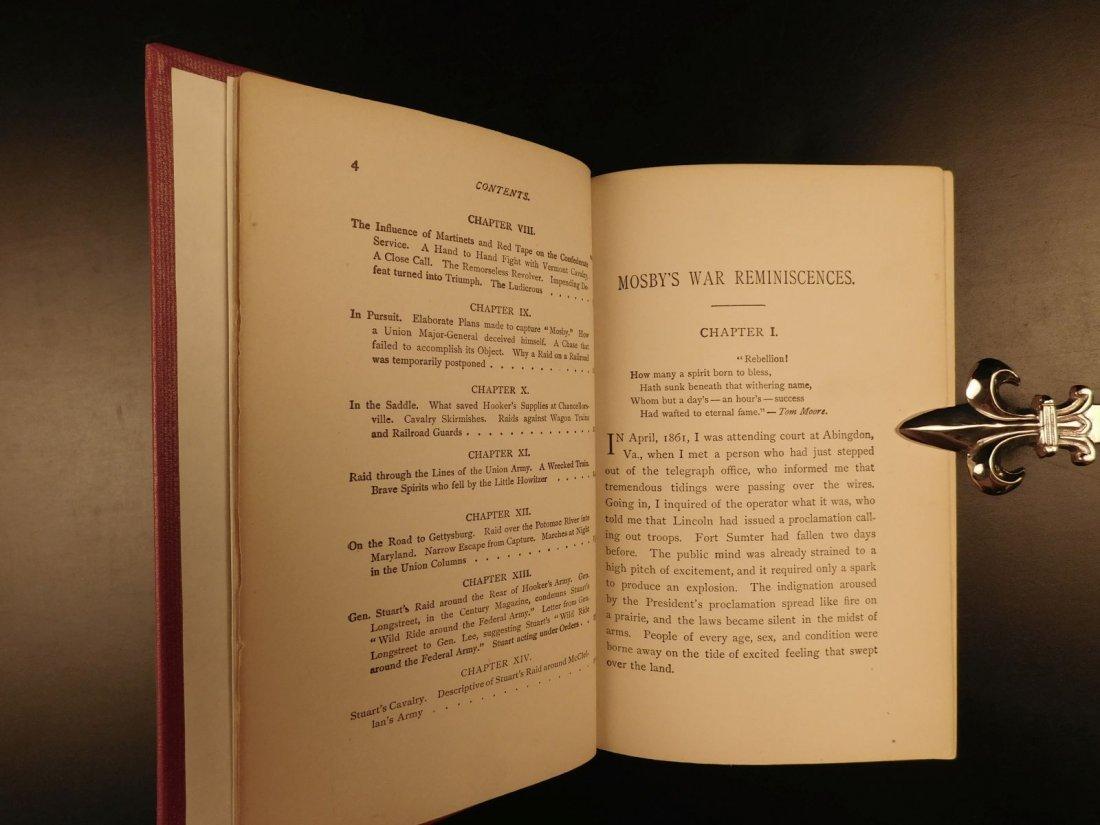 1898 John Mosby Civil War Reminiscences Confederate Vir - 4