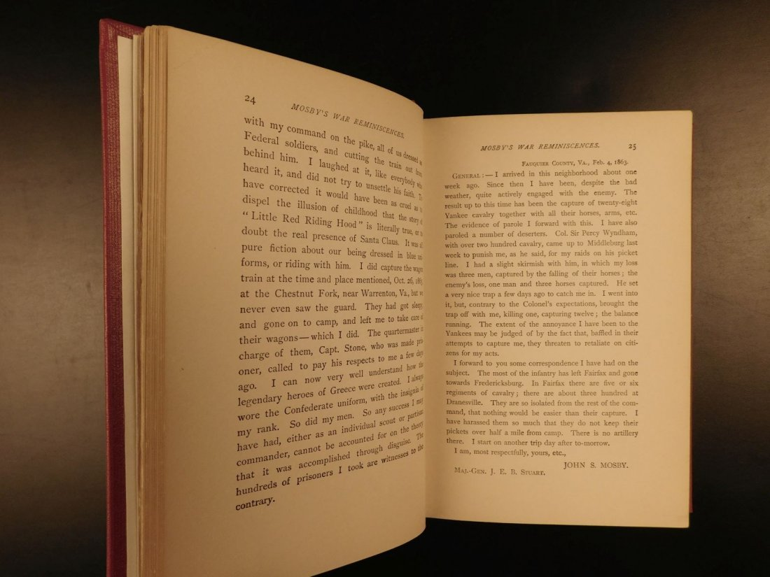 1898 John Mosby Civil War Reminiscences Confederate Vir - 5