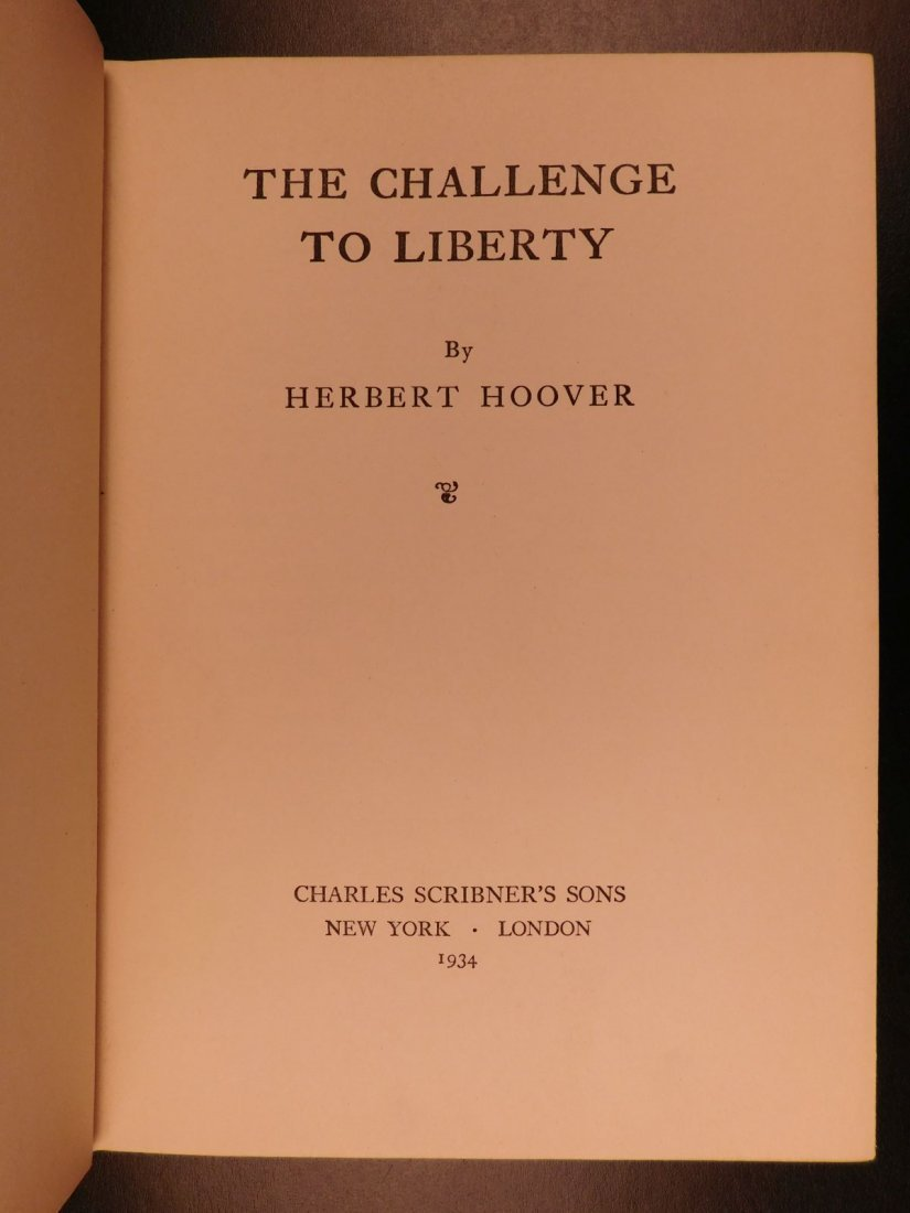 1934 1st ed Challenge to Liberty Herbert Hoover on Fran - 2