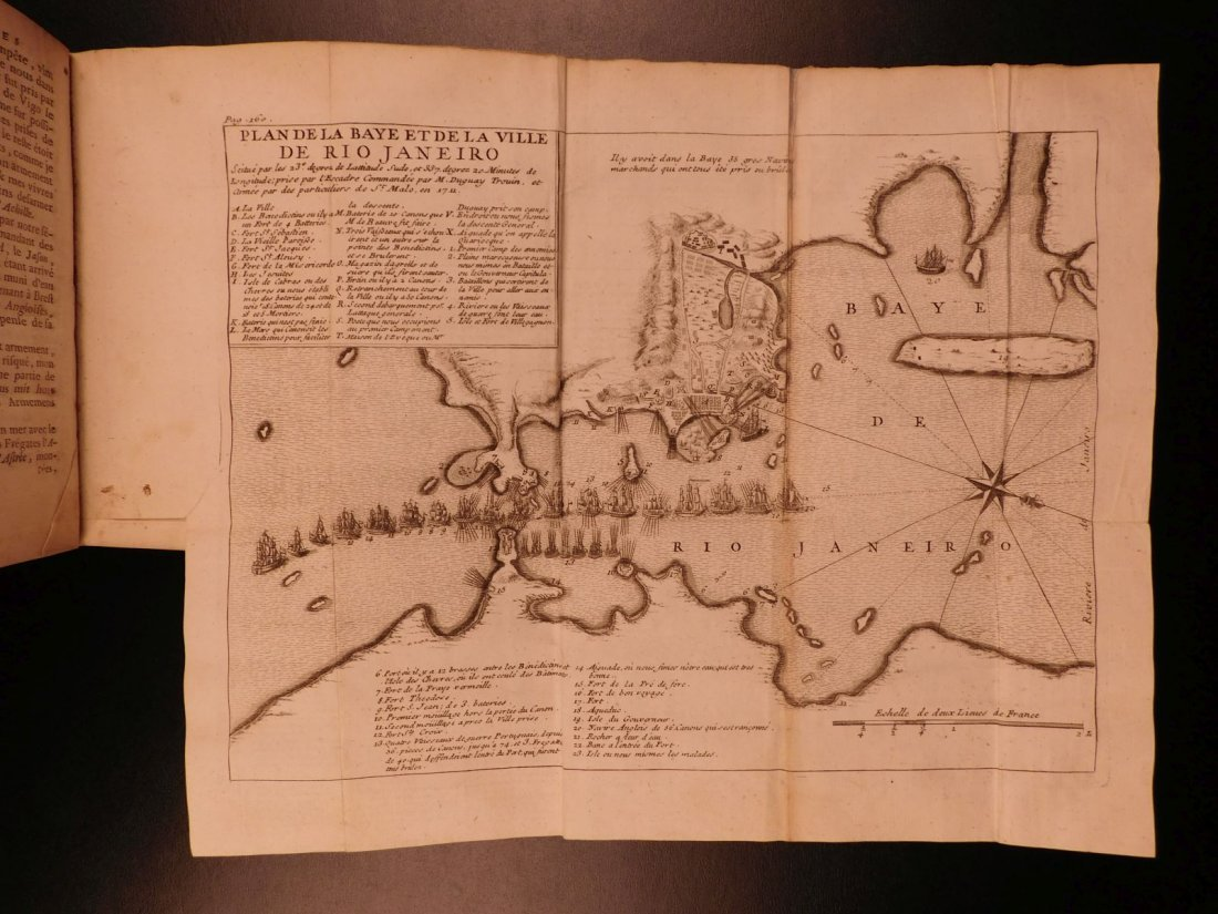 1746 Pirates BRAZIL French NAVY Louis XIV Illustrated