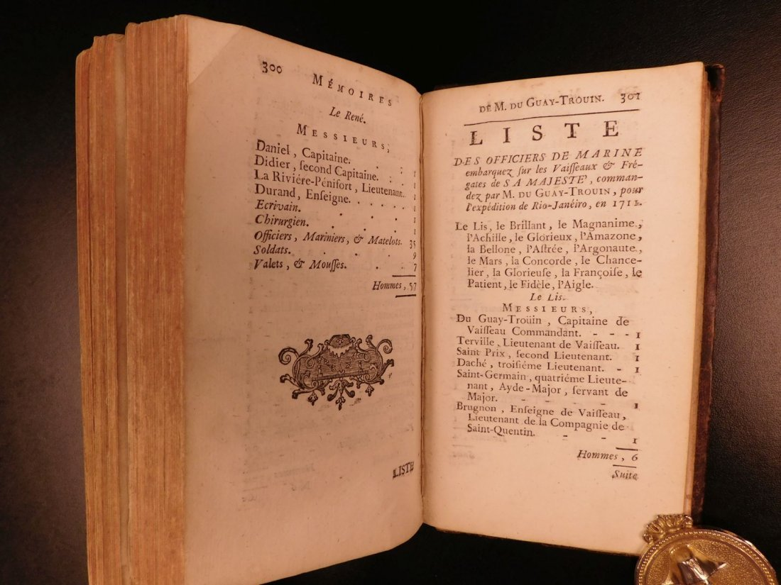 1746 Pirates BRAZIL French NAVY Louis XIV Illustrated - 9
