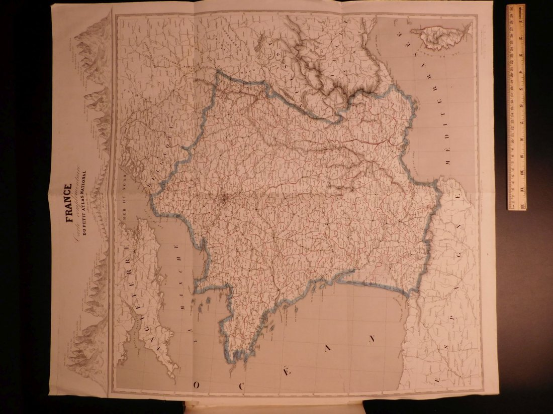 1833 ATLAS MAPS Cartography Navigation Voyages
