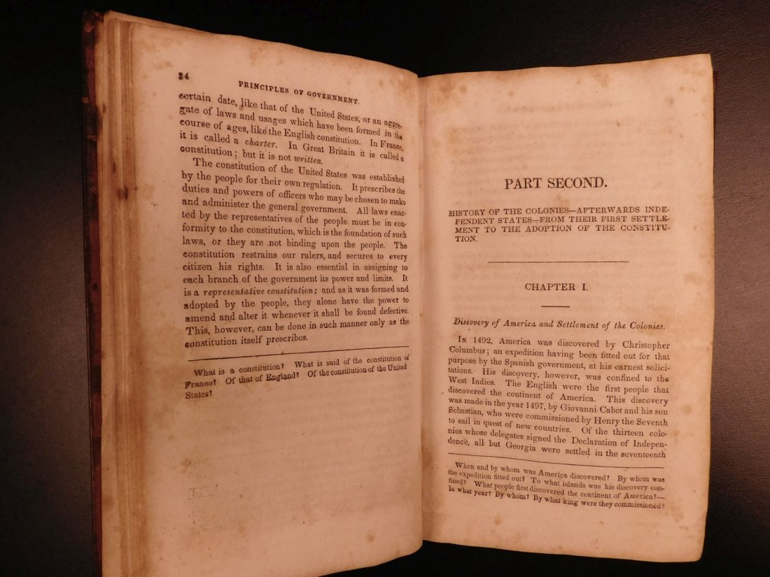 1835 1ed Americana Science of Government Constitution - 10