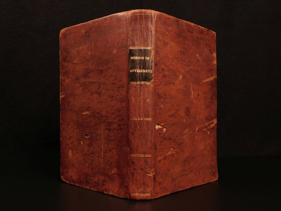1835 1ed Americana Science of Government Constitution