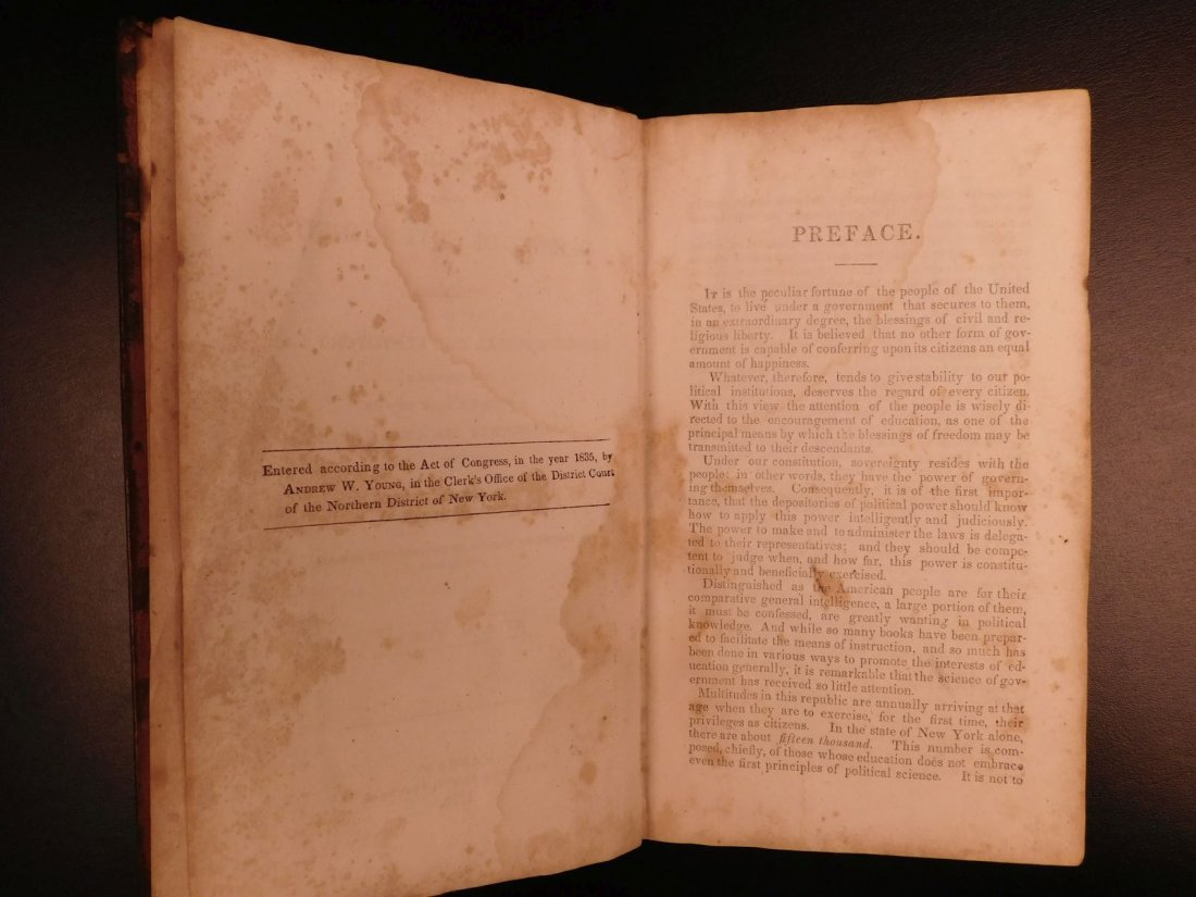 1835 1ed Americana Science of Government Constitution - 3
