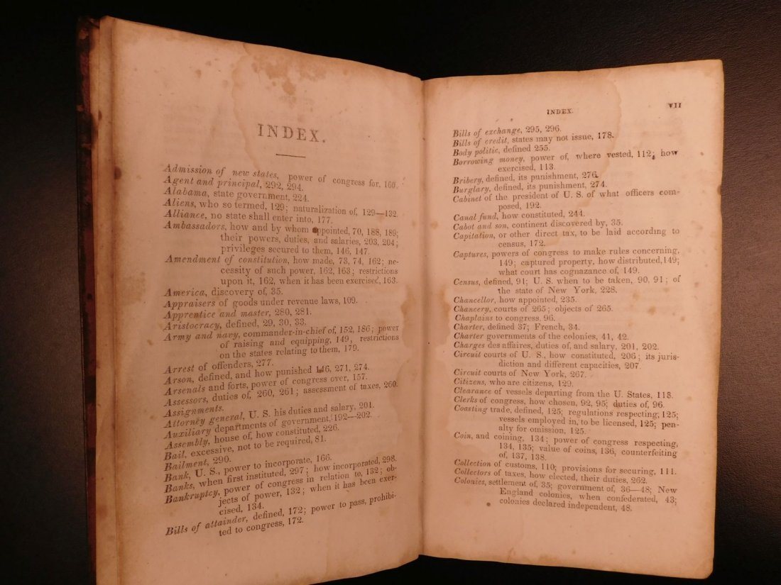 1835 1ed Americana Science of Government Constitution - 4