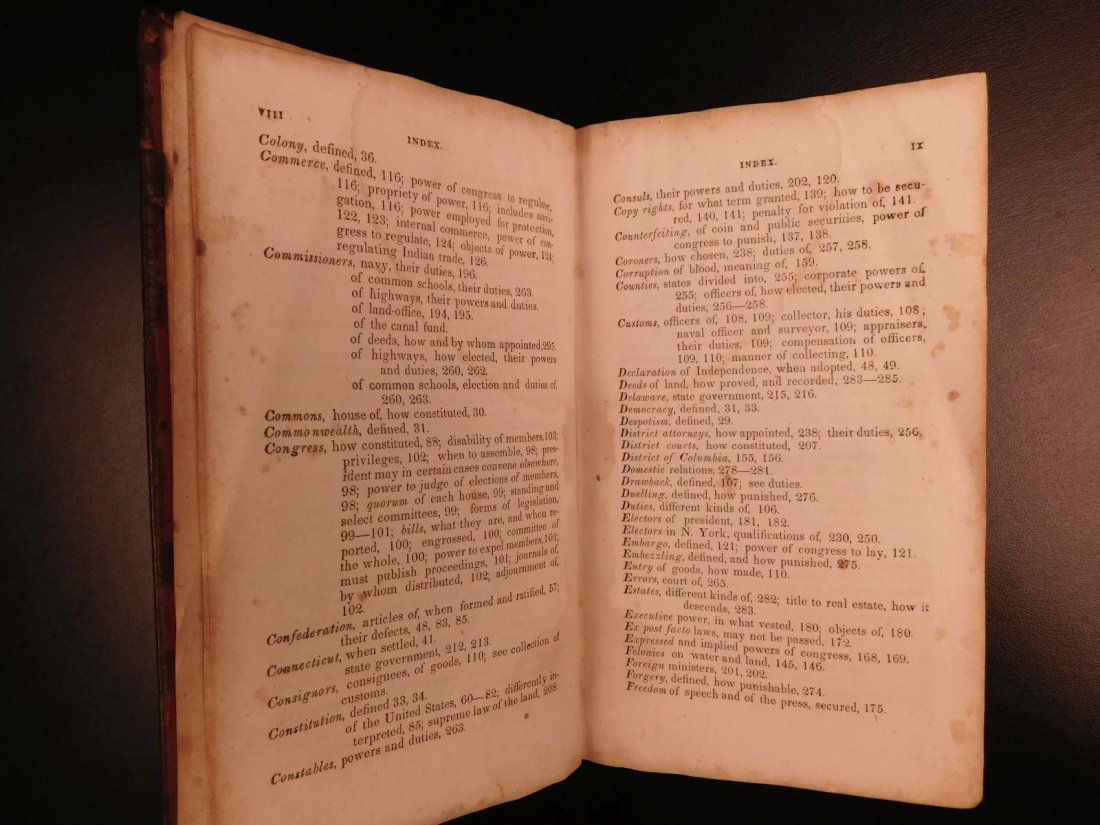1835 1ed Americana Science of Government Constitution - 5