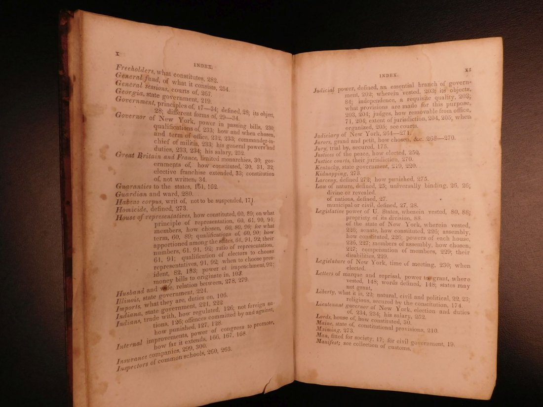 1835 1ed Americana Science of Government Constitution - 6