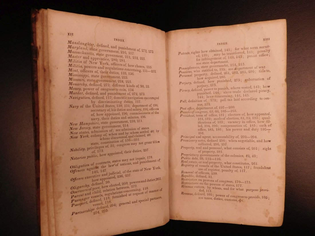 1835 1ed Americana Science of Government Constitution - 7