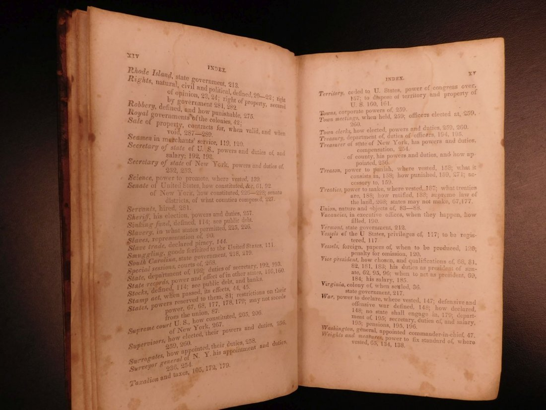 1835 1ed Americana Science of Government Constitution - 8