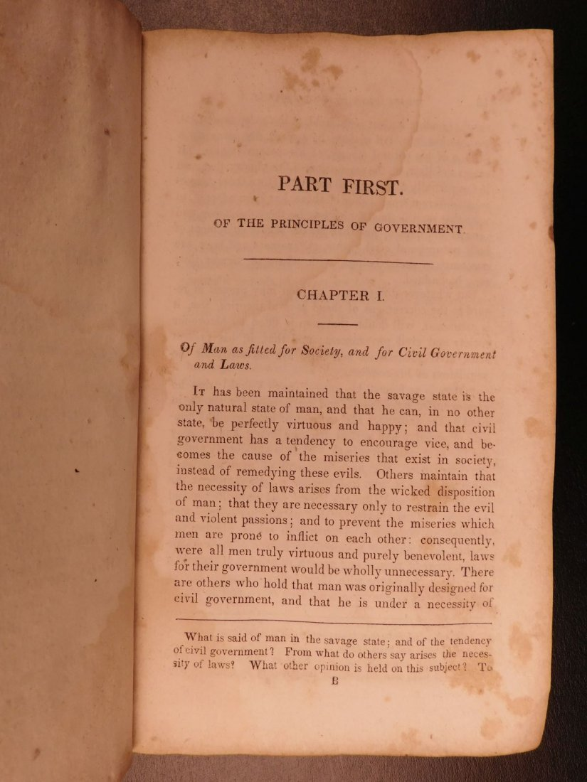 1835 1ed Americana Science of Government Constitution - 9