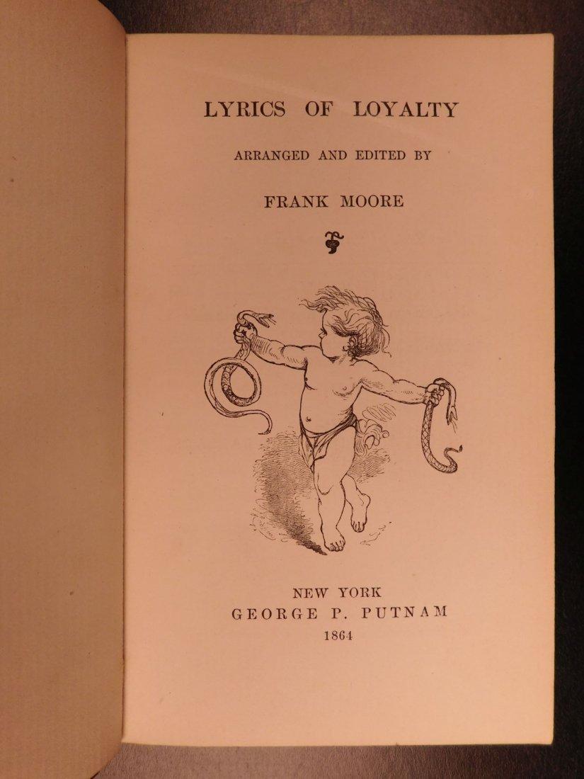 1864 CIVIL WAR Lyrics of Loyalty SIGNED Longfellow - 2