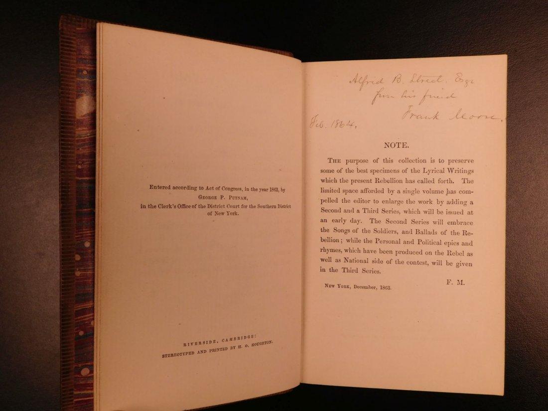 1864 CIVIL WAR Lyrics of Loyalty SIGNED Longfellow - 3